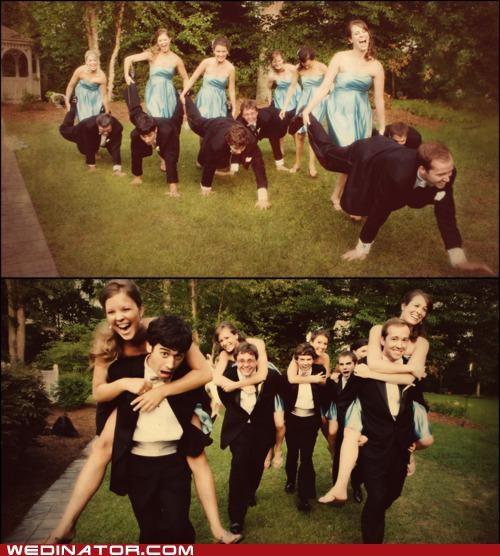 bridesmaids funny wedding photos Groomsmen wedding parts - 4771146240