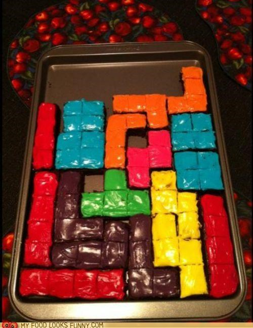 cake,chocolate,frosting,squares,tetris,video game