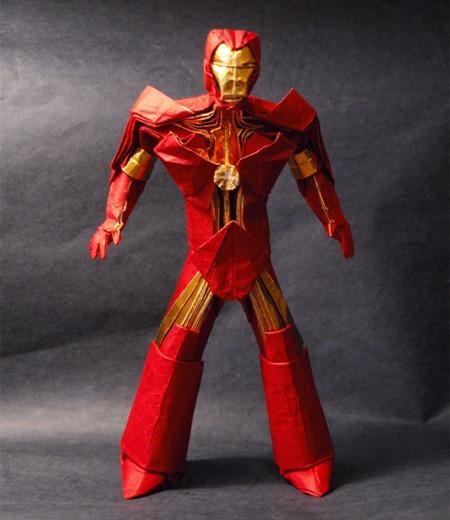 brian chan,Fan Art,iron man,origami,superheroes