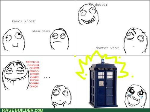 classic,doctor who,jokes,knock knock,Rage Comics