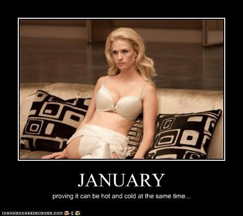 actor celeb dairy queen demotivational funny January Jones sexy - 4771796736