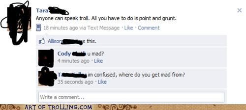 facebook grunt point troll u mad - 4772114176