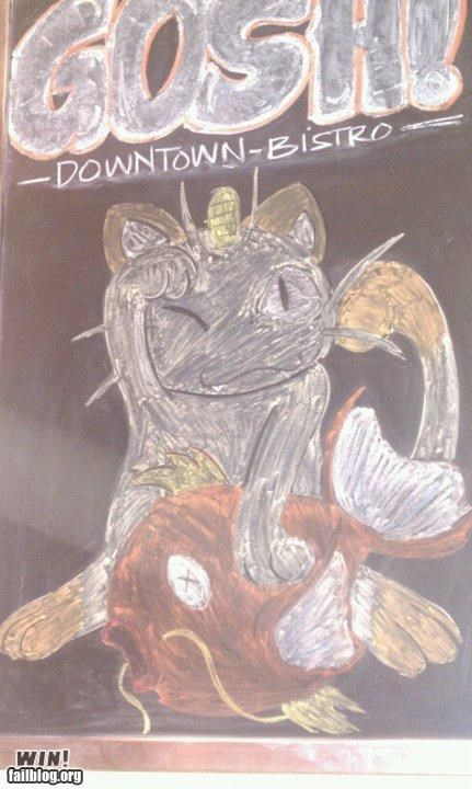 carp Meowth nerdgasm Pokémon sign sushi video game - 4772154112