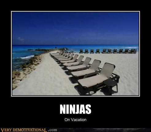 hilarious invisible ninjas not there ocean vacation