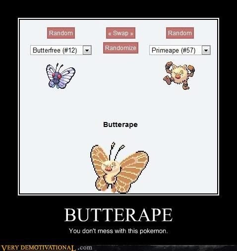 Butterfree,hilarious,Pokémon,Primeape