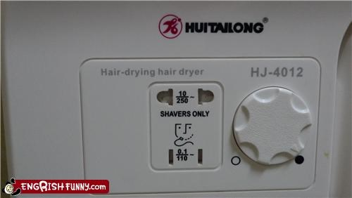 dryer engrish hair