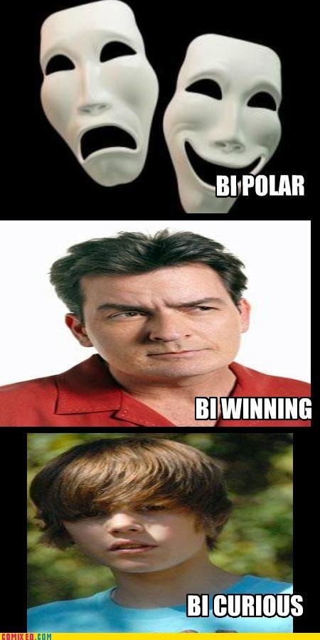 bi curious,bi polar,bi winning,celebutard,Charlie Sheen,justin bieber