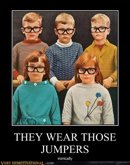 glasses irony jumpers kids weird kid
