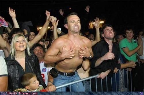 boob grab,concert,topless