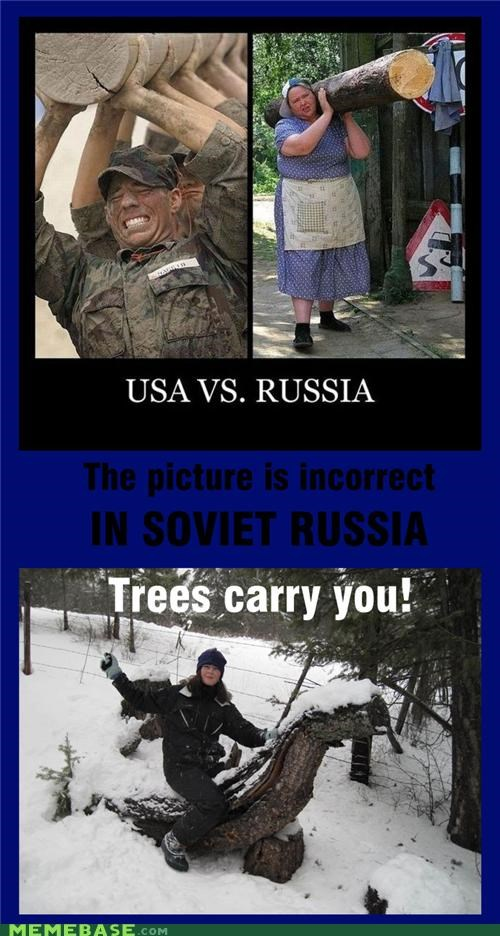 Soviet Russia tree carrying
