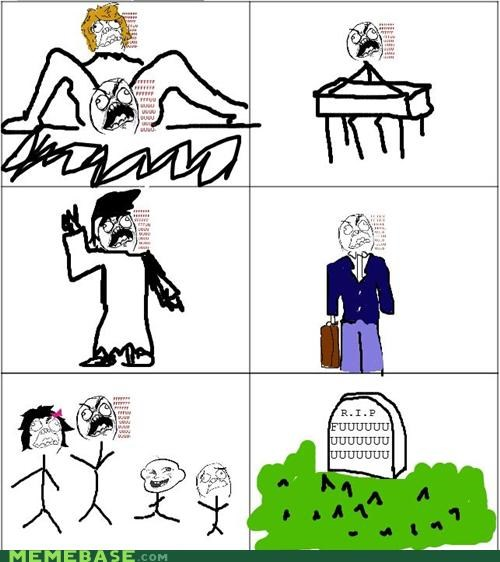 Death family graduation life Rage Comics rage guy work