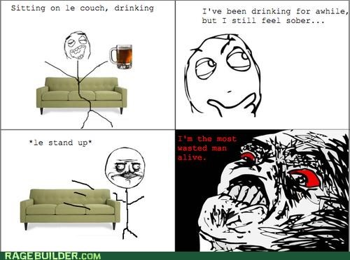 couch,drinking,drunk,Rage Comics,sit,wasted