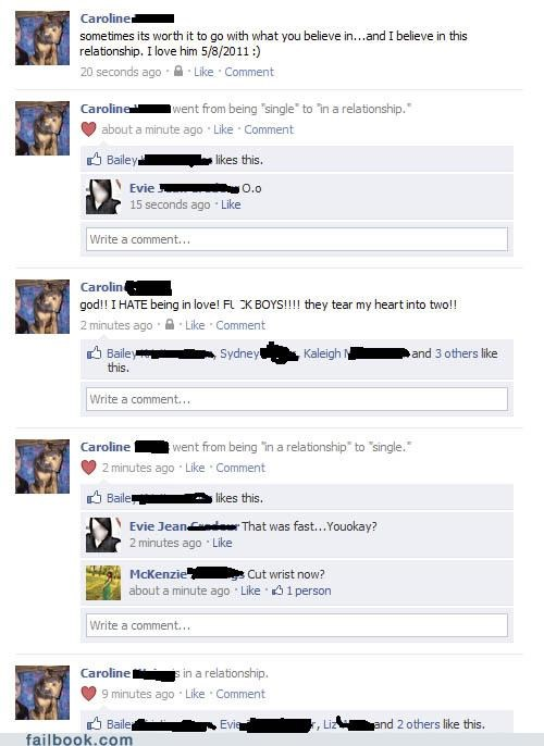 Failbook dating fails page