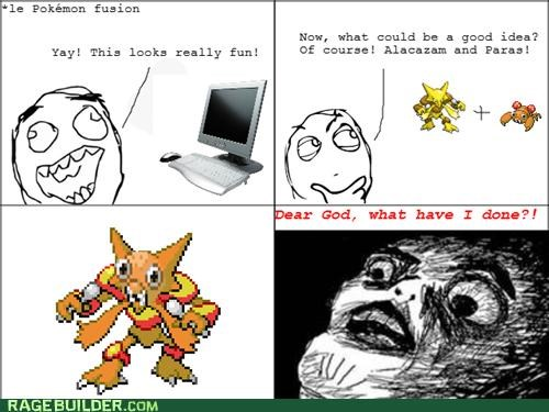 Pokémon,pokemon fusion,Rage Comics,ruined