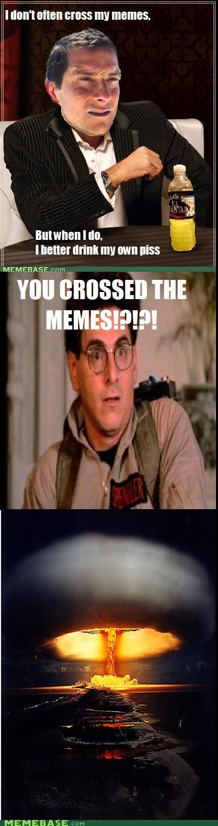 bear grylls,cross,egon,Ghostbusters,Memes,the most interesting man in the world