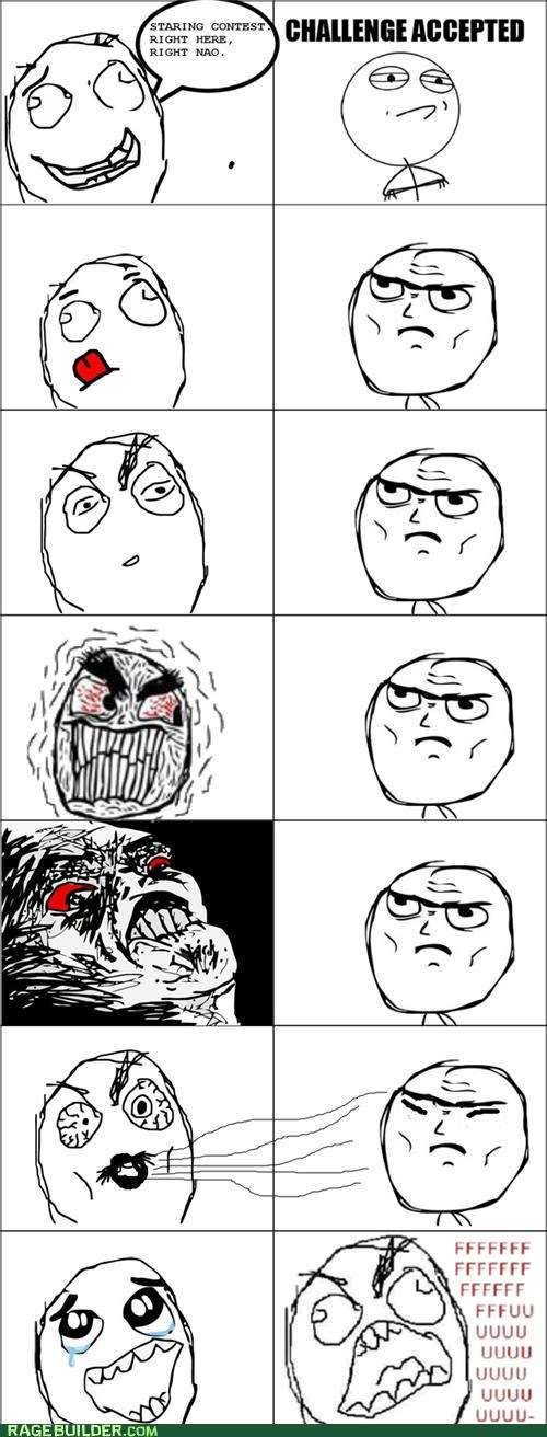 cheating Rage Comics staring contest wind - 4774166016