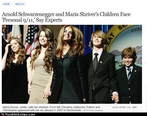 abc news,Arnold Schwarzenegger,Maria Shriver,political pictures