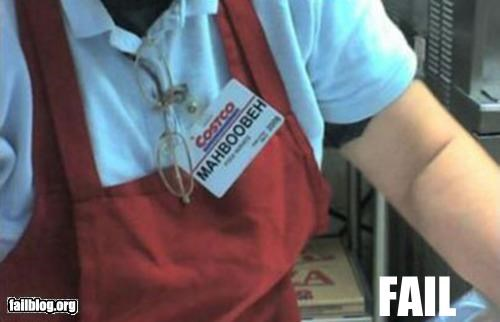 boobs chest costco failboat innuendo ironic name nametag