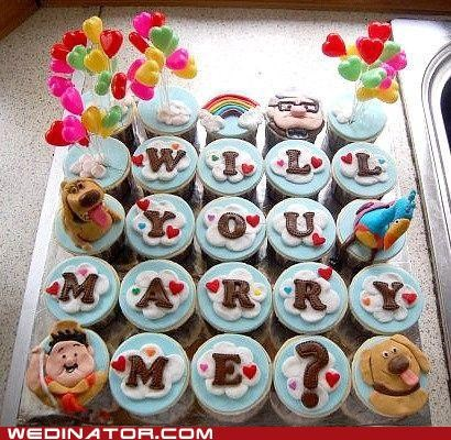 cupcakes,funny wedding photos,pixar,proposal,up
