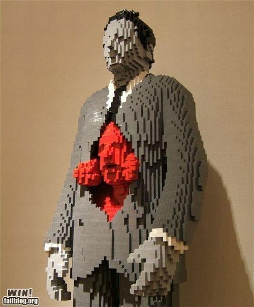 art awesome lego sculpture