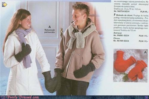 cute couple gloves mittens - 4775050752