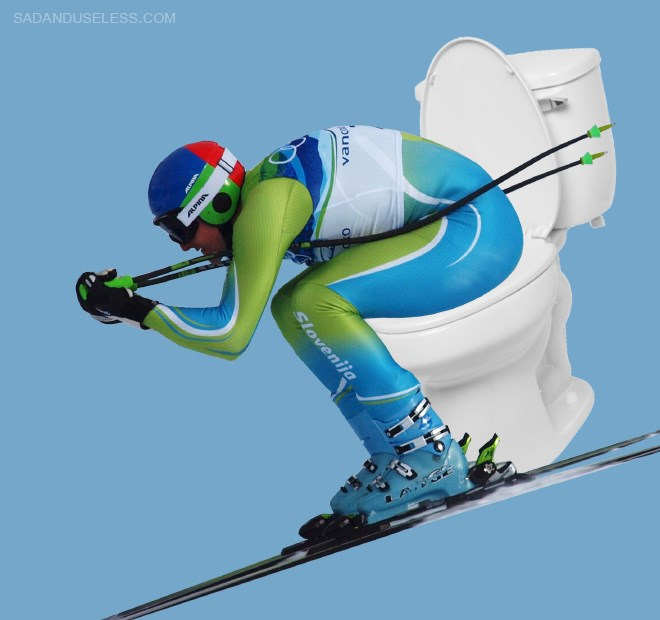 toliets cheezcake funny olympics skiers - 4775173