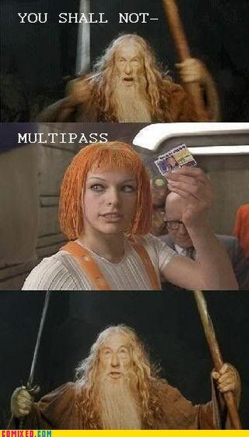 fifth element From the Movies leeloo Lord of the Rings multipass - 4775192576