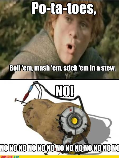 Lord of the Rings portal 2 potatoes sentient the internets - 4775341568