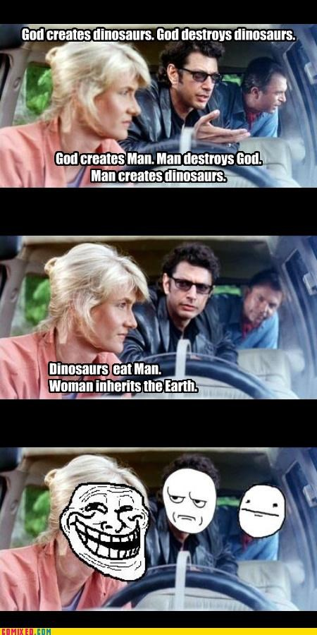 dinosaurs From the Movies jurassic park men troll women - 4775399424