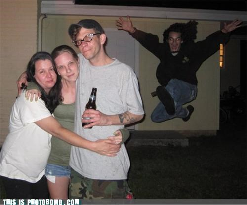 awesome,glasses,group photo,leaping