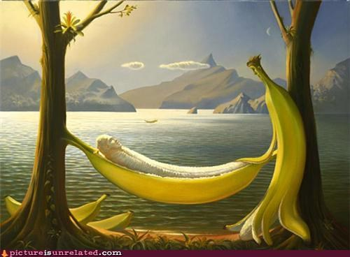 art,banana,hammock,painting,wtf