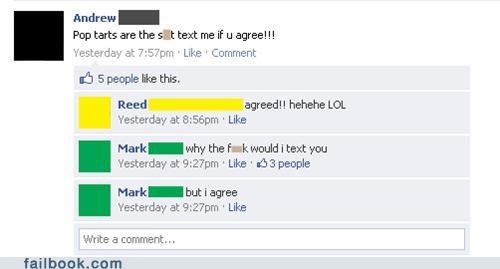 pop tarts awkward text texting - 4775771904