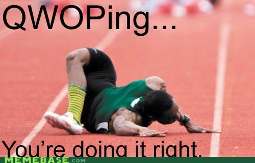 doin it IRL QWOP right track - 4775860736