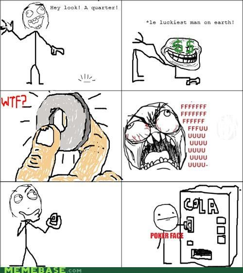 coin cola pokerface Rage Comics washer - 4775907840