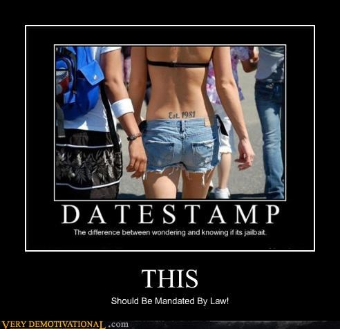 buttocks date stamp hilarious mandatory tattoo tramp stamp - 4776530688