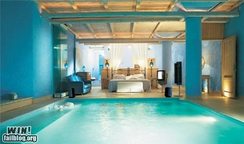 awesome bedroom design furniture pool water - 4776720896