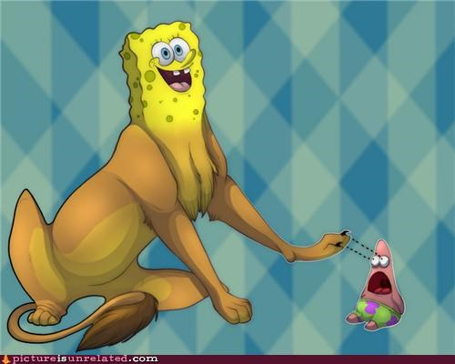 art,lion,patrick,SpongeBob SquarePants
