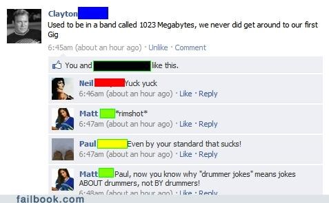 Music drummers bands drums failbook g rated - 4776801536