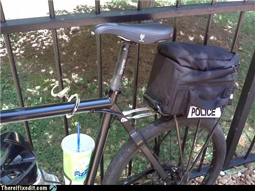 bicycle bike dual use handcuffs locked up police - 4777163264