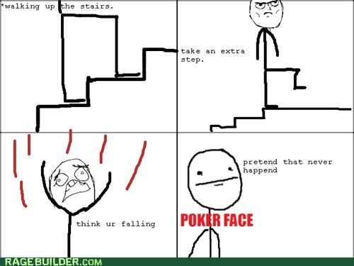 extra falling Rage Comics reverse step