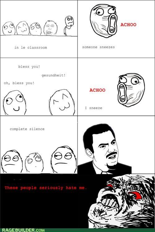 achoo,class,hatred,Rage Comics,sneezing