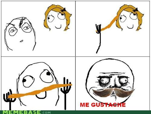 girls hair me gusta mustache Rage Comics - 4777520384