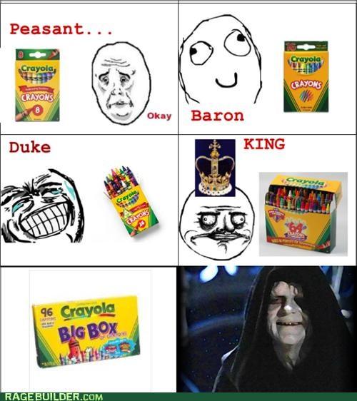 crayons,elementary,emperor,king,Rage Comics,school