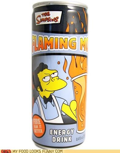 energy drink,flaming moe,moe,simpsons