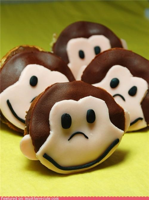 banana cupcakes Curious George epicute monkey - 4777616896