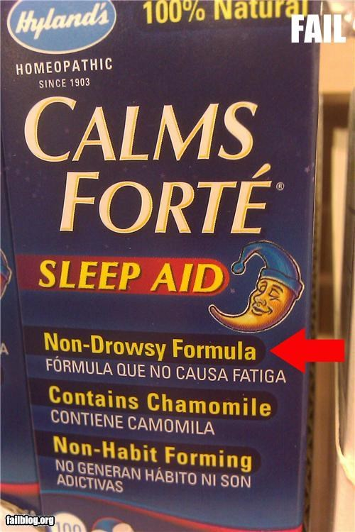 Sleep aid fail Found this at a local market