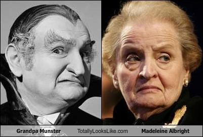 al lewis,grandpa munster,Madeleine Albright,politicians,The Munsters,vampires