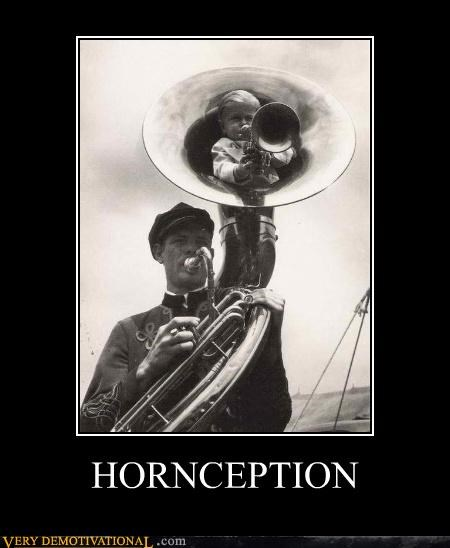baby,hilarious,horns music,Inception,wtf
