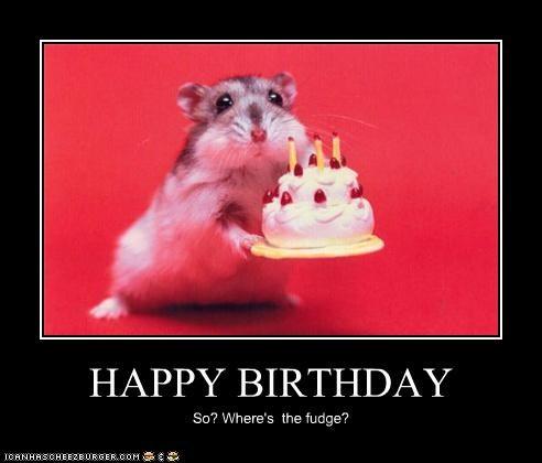 HAPPY BIRTHDAY So? Where's the fudge?