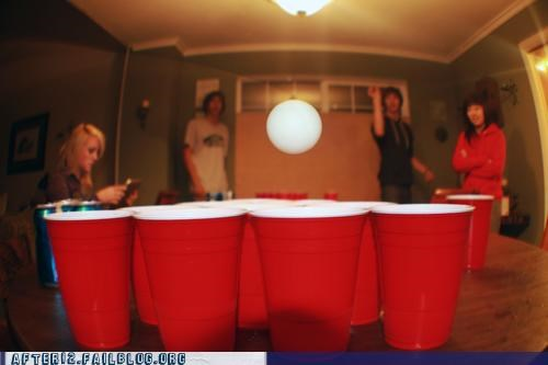 action shot,beer pong,red cups